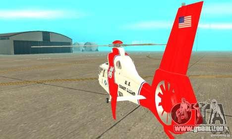 AS 365N United States Coast Guard für GTA San Andreas rechten Ansicht