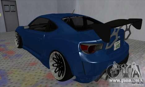 Subaru BRZ JDM pour GTA San Andreas laissé vue