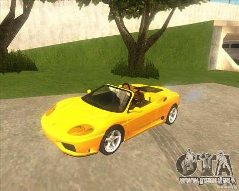 Ferrari 360 Spider für GTA San Andreas