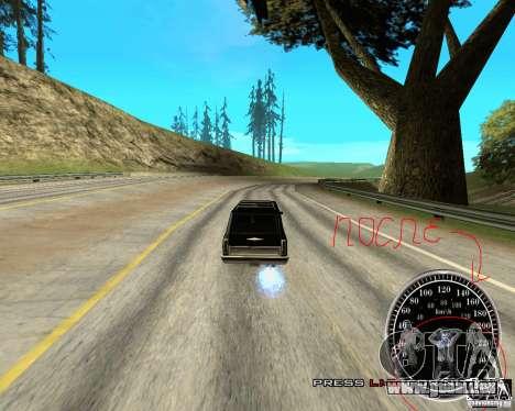 Perenniel Speed Mod pour GTA San Andreas troisième écran