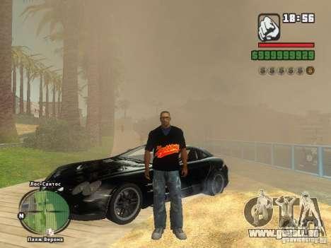 LE T-shirt MIZ pour GTA San Andreas cinquième écran