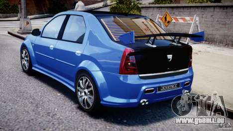 Dacia Logan 2008 [Tuned] pour GTA 4 est un droit