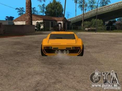 Lamborghini Miura pour GTA San Andreas sur la vue arrière gauche