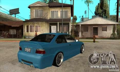 BMW M3 HAMMAN pour GTA San Andreas vue de droite