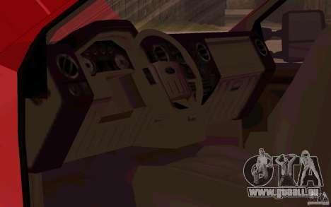 Ford F250 Super Dute für GTA San Andreas Innenansicht