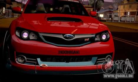 Subaru Impreza WRX Camber pour GTA San Andreas laissé vue