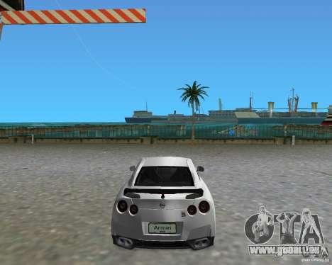 Nissan GT R35 Vspec pour une vue GTA Vice City de la gauche