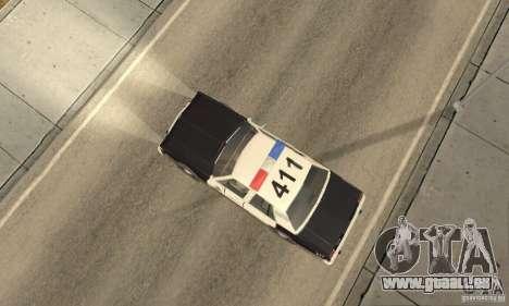 Ford LTD Crown Victoria Interceptor LAPD 1985 pour GTA San Andreas sur la vue arrière gauche