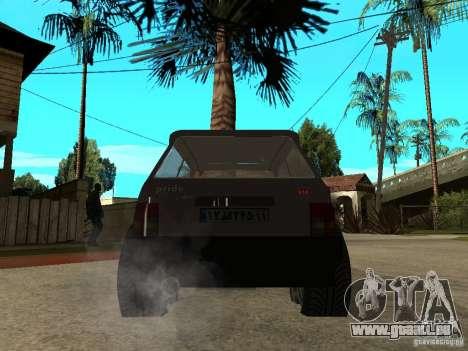 Kia Pride pour GTA San Andreas sur la vue arrière gauche