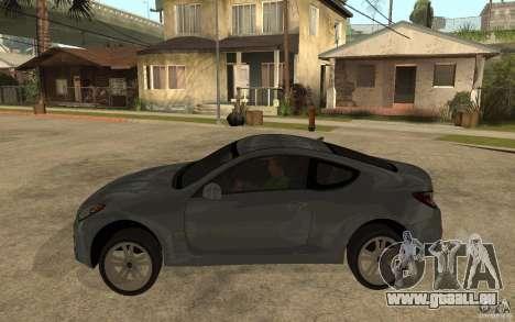 Hyundai Genesis Coupe 2010 pour GTA San Andreas laissé vue