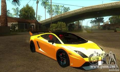 Lamborghini Gallardo LP570 Super Trofeo Stradale pour GTA San Andreas vue arrière