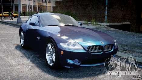 BMW Z4 V3.0 Tunable pour GTA 4 Vue arrière