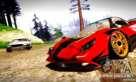 Pagani Zonda Tricolore V2 für GTA San Andreas Rückansicht