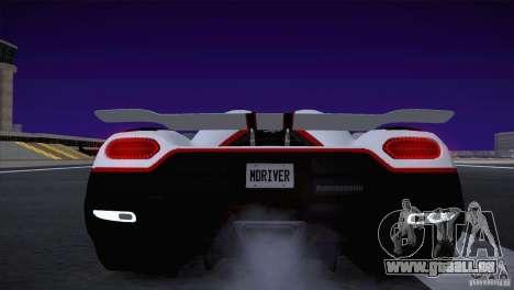 Koenigsegg Agera R 2012 für GTA San Andreas Seitenansicht