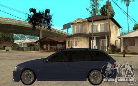 BMW M5 E39 530tdi Touring pour GTA San Andreas laissé vue