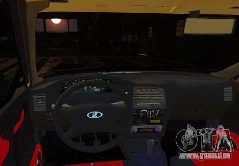 Coupe de VAZ-2112 pour GTA 4 est une vue de l'intérieur