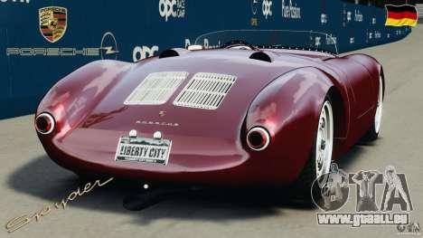 Porsche 550 A Spyder 1956 v1.0 für GTA 4 hinten links Ansicht