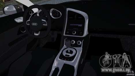 AUDI R8 pour GTA 4 est une vue de l'intérieur