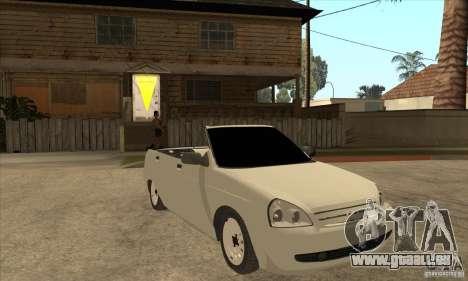 VAZ LADA Priora convertible pour GTA San Andreas vue arrière