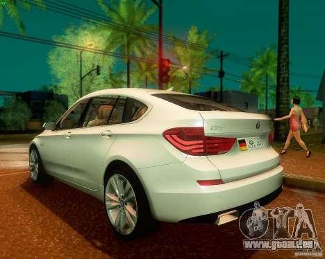 BMW 550i GranTurismo 2009 V1.0 für GTA San Andreas rechten Ansicht