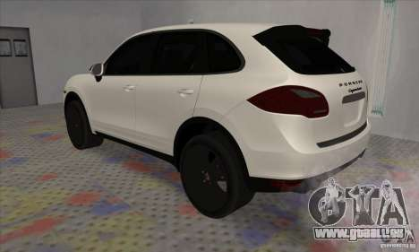 Porsche Cayenne Turbo Black Edition für GTA San Andreas rechten Ansicht