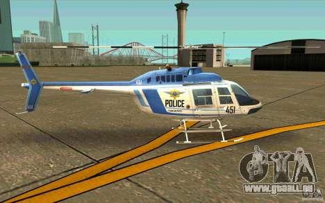 Bell 206 B Police texture1 für GTA San Andreas zurück linke Ansicht