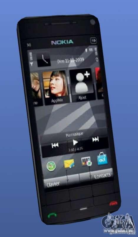 Téléphone mobile Nokia X 6 pour GTA 4