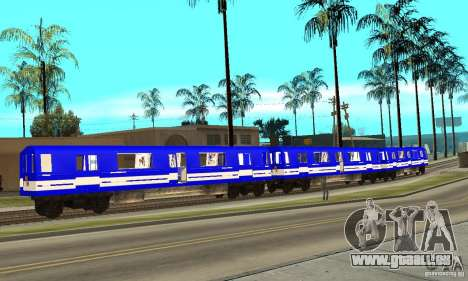Liberty City Train Sonic für GTA San Andreas linke Ansicht