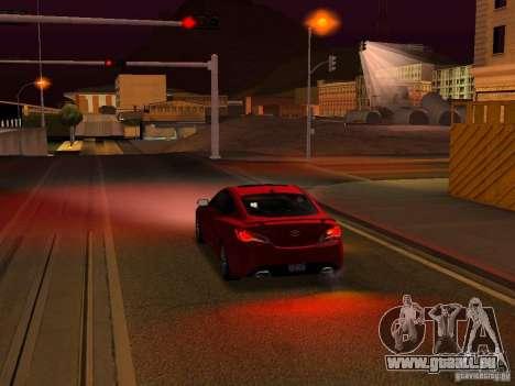 Hyundai Genesis Coupé 3.8 piste v1.0 pour GTA San Andreas moteur