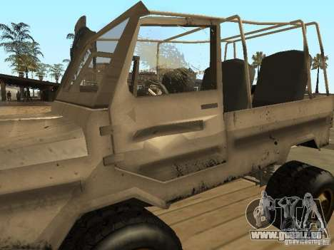 LuAZ 969 Offroad für GTA San Andreas obere Ansicht