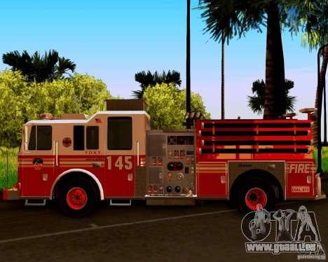 Pumper Seagrave Marauder F.D.N.Y für GTA San Andreas Rückansicht