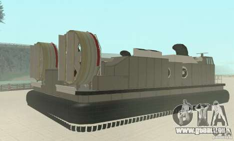 Landing Craft Air Cushion pour GTA San Andreas laissé vue