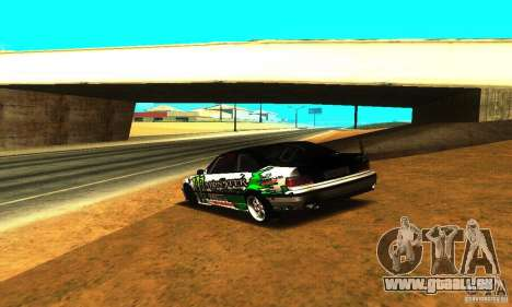 BMW E36 Drift pour GTA San Andreas vue arrière