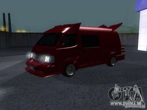 Toyota Hiace Vanning pour GTA San Andreas laissé vue