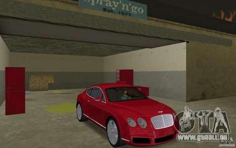 Bentley Continental GT (Final) pour GTA Vice City vue arrière