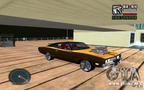 Dodge Charger R/T 1969 für GTA San Andreas Rückansicht
