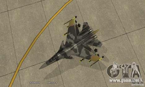 Su-37 Terminator pour GTA San Andreas vue de droite