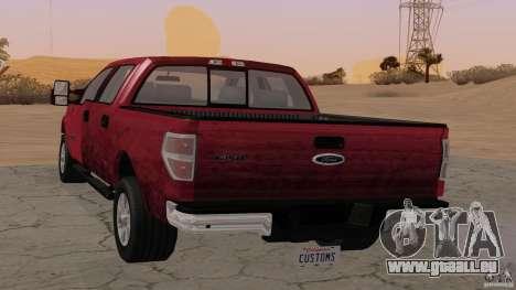 Ford F-150 Platinum Final 2013 pour GTA San Andreas laissé vue
