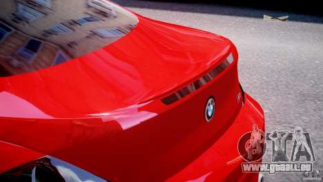 BMW M6 Orange-Black Bullet pour GTA 4 est une vue de dessous