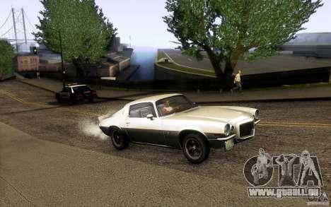 Chevrolet Camaro Z28 pour GTA San Andreas vue intérieure