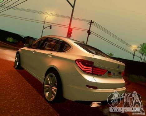 BMW 550i GranTurismo 2009 V1.0 für GTA San Andreas zurück linke Ansicht