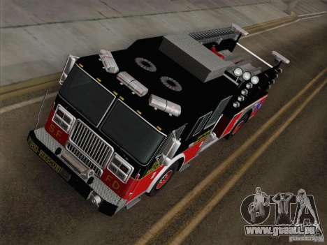 Seagrave Marauder Engine SFFD für GTA San Andreas Rückansicht