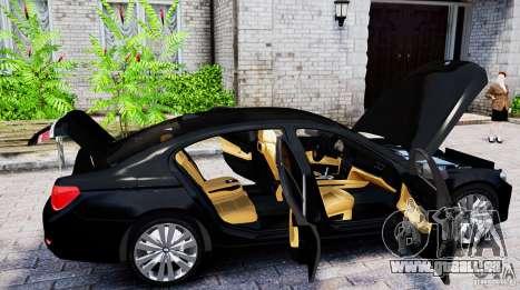 BMW 750Li pour GTA 4 Vue arrière de la gauche