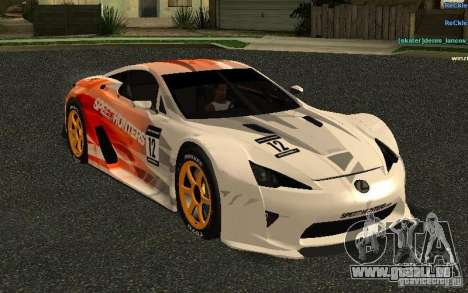 Lexus LFA Speedhunters Edition pour GTA San Andreas vue intérieure