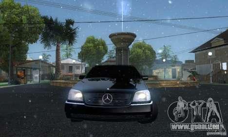 Mercedes-Benz 600SEC für GTA San Andreas Rückansicht
