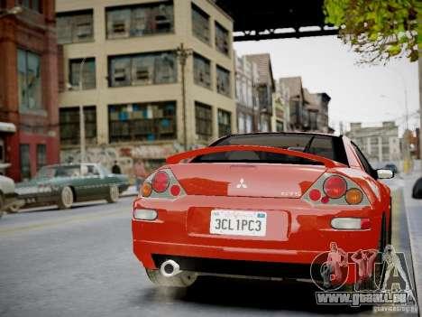 Mitsubishi Eclipse GT-S v1.0 pour GTA 4 est une vue de l'intérieur
