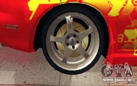 Mazda RX-7 - FnF2 für GTA San Andreas obere Ansicht