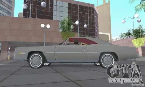 Cadillac Eldorado Convertible 1976 für GTA San Andreas Rückansicht