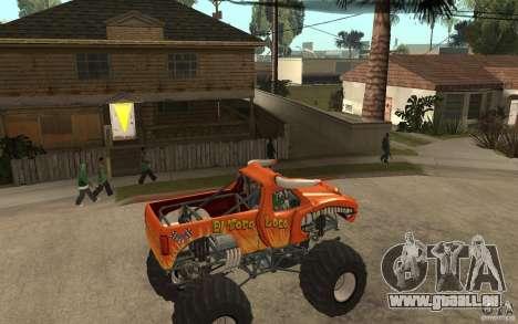 El Toro Loco pour GTA San Andreas vue de droite