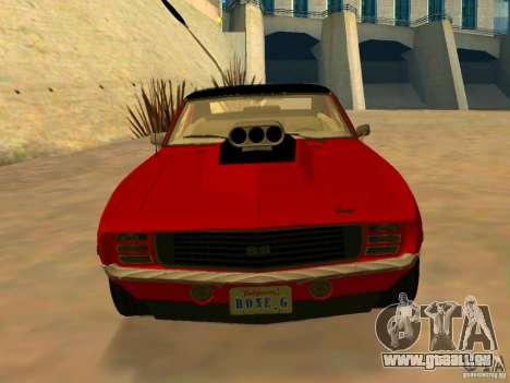 Chevrolet Camaro SS Custom für GTA San Andreas zurück linke Ansicht